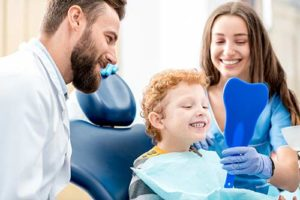 family discussing preventative dentistry